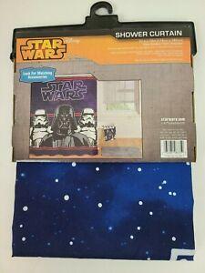 "New Disney Star Wars Darth Vader Classic Logo Fiber Shower Curtain 70"" x72"""
