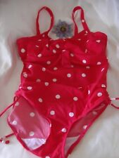 Bravissimo SW109 Red/White Polka Dot U/W Swimsuit With Side Tie Detail 36DD