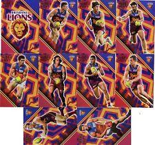 2018 AFL SELECT LEGACY BRISBANE LIONS HOLOGRAPHIC FOIL PARALLEL 10  CARDS.