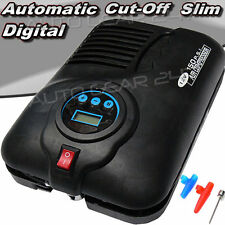 Swac5 Slim 12v Digital Automatic Cut-off Car Van Bike Tyre Compressor Inflator