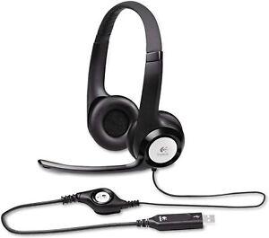 LOGITECH H390 Trucker, PC, Office Headset USB Noise Cancelling Headphones