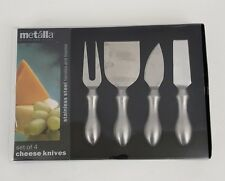 Prodyne Cheese cutter Tools, Set Of 4 Metalla Stainless Steel