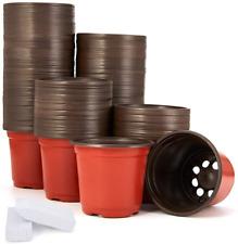 "4"" Nursery Seedlings Pot   Reusable Garden Plant Flower Pots w/ Drainage Holes"