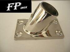 Embase / Platine Rectangulaire 25mm De luxe 60° inox 316