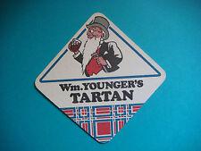 Beer Coaster Mat: William Younger's Tartan Special ~ Edinburgh, SCOTLAND Brewery