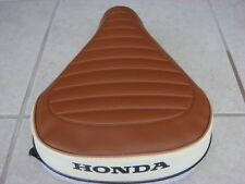 Honda NC50 EXPRESS  Replacement Seat Cover Black Dyed Logo Brown &White (H62)