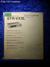 Sony Bedienungsanleitung STR VX3L FM/AM Stereo Receiver (#0002)
