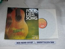 LP VA Folk Lied Song Nachwuchs Festival Pop 80 (12 Song) CBS Lagrene HR Kunze