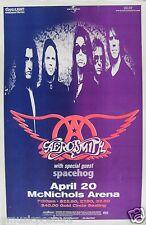 AEROSMITH / SPACEHOG 1998 DENVER CONCERT TOUR POSTER - Classic Hard Rock Music