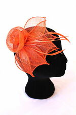Women's Orange Fascinator 'Sun Rays'