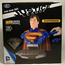 SUPERMAN NEW 52 3-D PUZZLE BUST DC COMICS JUSTICE LEAGUE UNIVERSE MISB 2014 RARE