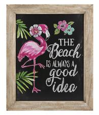 ganz E8 jardin décor 40.6x50.8cm Plaque murale flamant rose plage er52363