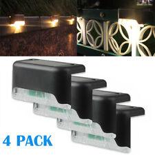 4 Solar Led Bright Deck Lights Outdoor Garden Patio Railing Decks Path Lighting