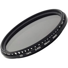 52mm Variable Neutral Density ND Fader Filter Lens ND2 ND8 ND16 to ND400