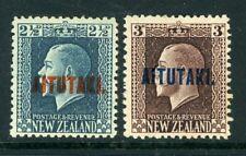Aitutaki 1916 definitive selection of 9 values MM