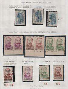 Viet Nam Sc #1L7-20a Perf & Surch. Varieties Incl. Inverted +Sc1L18-20 Cover