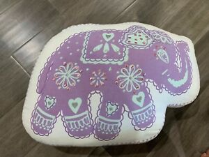 Pottery Barn Stella Elephant pillow purple