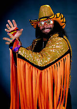 "WWF WWE Wrestling MACHO MAN RANDY SAVAGE Photo Poster 8.5""x11"" Decor #1"