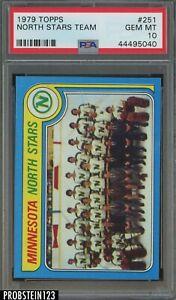 1979 Topps Hockey #251 North Stars Team PSA 10 GEM MINT