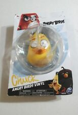 ANGRY BIRDS FIGURE Rovio CHUCK Video Game Bird Character VINYL Action Figure NEW
