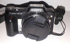 Sony Cyber-Shot DSC-H3 Digital Camera - Black - Including Case
