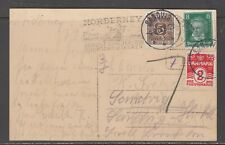 Denmark / Germany 1928. Incom. postcard from Germany.  Mixed postage due stamp.