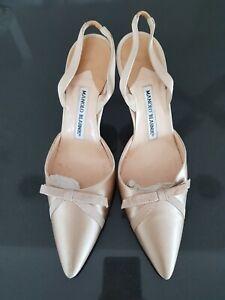 Manolo Blahnik Champagne Heels - Size 36.5
