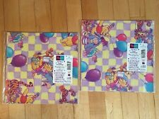 HALLMARK Wrapping Paper GIFT WRAP Winnie the Pooh Fun 2 SHEETS Birthday NIP