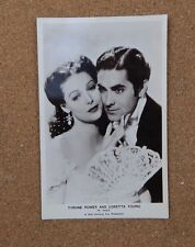 Tyrone Power & Loretta Young Film Star  Real Photograph Postcard  fs178 xc2