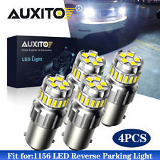 4PC AUXITO CANBUS LED 1156 P21W 7506 Reverse Backup Light HID White Bulb 6500K