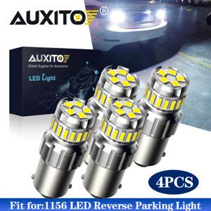 4PC AUXITO CANBUS LED 1156 P21W 7506 Reverse Backup Light HID White Bulb 6500K