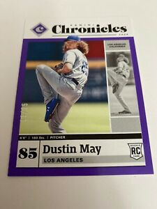 Dustin May 2020 Panini Chronicles Purple Parallel 13/25 RC. DODGERS!