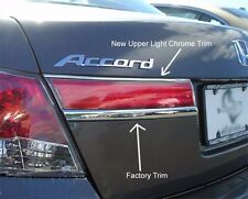 UPPER TAIL LIGHT CHROME TRIM KIT FITS 2011 2012 HONDA ACCORD 4 DOOR SEDAN 1/4 IN