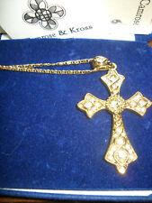 Camrose & Kross Jacqueline Jackie Kennedy Citrine Savoy Cross Pendant w/Box etc