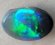 NR!! 0.46ct Semi Black Opal BRIGHT BLUE & GREEN  from Lightning Ridge