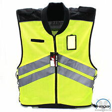 Vega Motorcycle Yellow Mesh Safety Vest Sall - Large Reflective DOD Visability