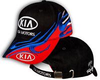 KIA Motors Black Red Baseball Cap 3D Embroidered Auto Car Logo Hat Mens Womens