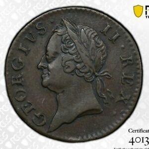 1760 Ireland Copper 1/4 Farthing Penny PCGS XF 45 King George II Duke of Hanover