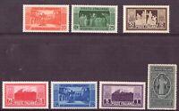 1929 1400 Anni Abbazia Montecassino Nuovi 7 V Italia Catalogo 262-8 MNH Integri