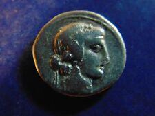 Q. TITIUS AR SILVER DENARIUS ROME MINT BACCHUS/PEGASUS