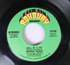 Soul 45 Marion Jarvis - Hell Of A Fix / Get It On Roxbury