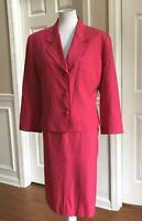 LE SUIT Women Beautiful 2 PC Pink Skirt Suit Size 16