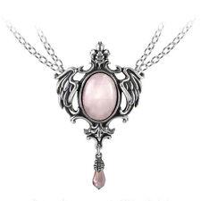 Alchemy Gothic PELTRO Crystal Seraph della luce rosa BAROCCO CIONDOLO COLLANA P719