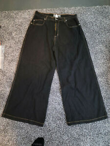 Kikwear Skater Pants Black Wide Leg Vintage 90's RARE Size 36