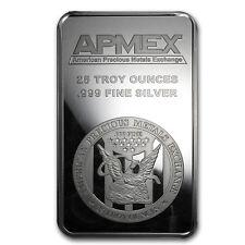 25 oz Silver Bar - APMEX (Struck) - SKU #83306