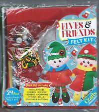Elves & Friends Felt Kit 24 Pieces Christmas Ornaments by Crafts Beautiful