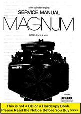 Kohler Manual Magnum M18 M20 Repair Shop Factory Service Manual