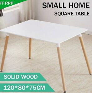 Squre Dining Table Wood Legs Lounge Restaurant Office Home  Only Table