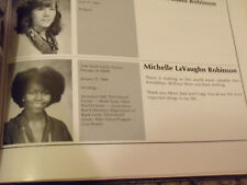 First Lady Michelle Obama College Yearbook Mrs. President Barack Obama