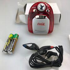 Coca Cola Coke Mini Radio with Torch Translucent RED - BNIB NEW NEVER USED